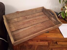 2 Wooden trays