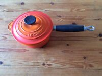 ***Le Creuset Cast Iron Saucepan 16 cm Volcanic Orange***