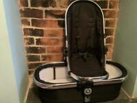 iCandy Peach 2 Black Magic Carrycot & Seat Unit