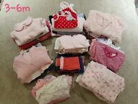 Baby girl clothes bundle 3-6m
