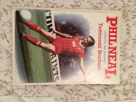 Phill Neal Liverpool and England testimonial brochure