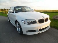 BMW 120d M Sport automatic 2012 in white with extras including paddlle shift