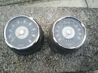 BSA A65 spares for sale. Seat , Clocks and mudguards.