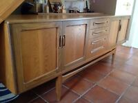 G Plan dining table and sideboard