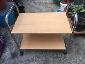Wooden tv stand/trolley