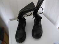 mens undercover black working boots size 10