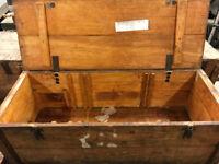 Large Vintage Wooden Storage Box