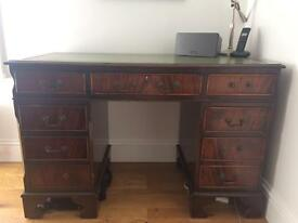 Mahagony Desk with Leather top