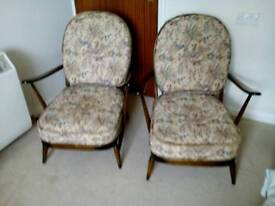 Ercol windsor armchairs
