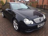 2007 MERCEDES BENZ C180 K SPORT EDITION 3 DOOR HATCHBACK AUTOMATIC IMMACULATE FSH 12 MONTH'S M.O.T