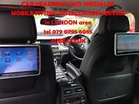 CAR HEADRESTs SCREENs DVD FITTED (with SRS modul removal) London area