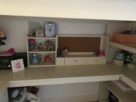 High bed with desk - £50.00 - collect tonight?!