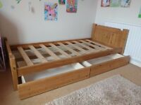 John Lewis Children's bed with 2 storage drawers