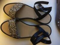 Asos sparkly platform sandals