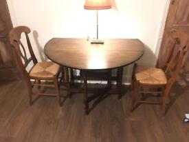 Vintage Drop Leaf Gate Table (Folding Round/Oval Table)