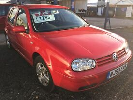 Golf gt tdi 5 door red 1.9 diesel