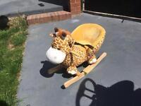 Baby giraffe rocker