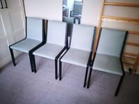 4 Camerich Flora dining chairs, solid oak & fabric, unused (RRP £1500)