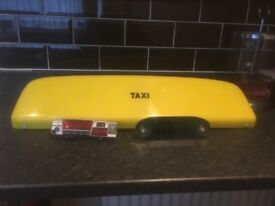 Taxi sign, dash sign and meter