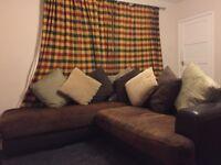 Brown corner suite