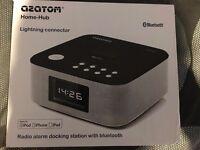 AZATOM Home Hub Lightning Dock 30W Bluetooth for iPhone 5's and up, iPad mini and iPads