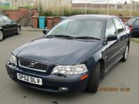 For sale, Volvo S40, 1.6 Petrol. (£ 275) for possible negotiations.