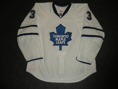 2009-10 Garnet Exelby Toronto Maple Leafs Game Used Worn Reebok Jersey MeiGray