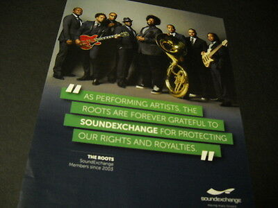 The ROOTS are forever grateful to Soundexchange PROMO POSTER AD mint condition