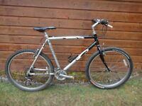 Carrera Vulcan bike, 26 inch wheels, 21 gears, 22 inch aluminium frame