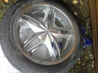 Classy  20 inch Toyota alloy rims with summer tires