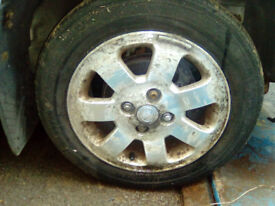 14 inch alloy wheels and tyres - PCD 4x100