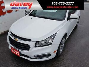 2015 Chevrolet Cruze 1LT BACK UP CAMERA, BLUETOOTH, MP3 INPUT