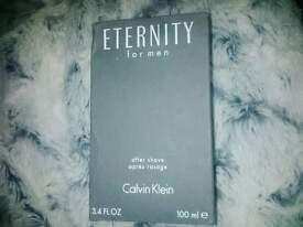 Calvin Klien eternity aftershave in box.