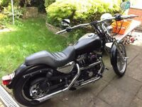 Harley Davidson Custom Springer Chopper Sportster XL 1200 Stage 1. 12 months MOT! Fully Servised!
