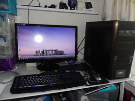 Fast Gaming PC. 4.3Ghz Quad Core CPU, 16 Gb DDR3 Ram, 1 Tb Hard Drive. FULL System, ready to play.!