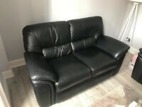 Good quality used leather sofa and arm chair recliner
