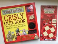 Horrible Histories Grisly Quiz Book, with 4 Gruesome Games and Door Hanger Kit