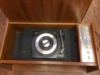 Vintage 60s turntable with original furniture