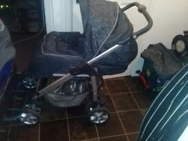 Silvercross pushchair with car seat