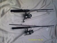 two FLADEN fishing rods
