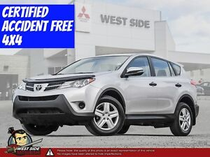 2013 Toyota RAV4 LE–Accident Free–AWD–2.5L–BT/USB/AUX–