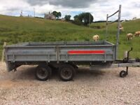 Barlow Indespension trailer 10ft x 5ft6 with ramps ladder rack