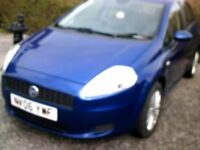 2006 fiat grand punto 1.4. metallic blue.