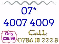Brand New Mobile Sim Card Unused Gold Easy Memorable Number - 07* 4007 4009 - £29.99 - * Cheap *