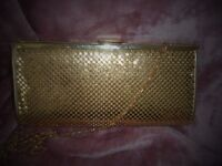 beautiful gold evening bag used once on a cruise