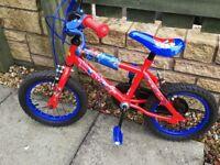 Boys Halfords Spiderman bike