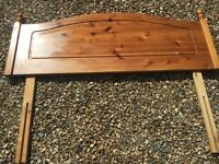 Solid wood head board - double bed