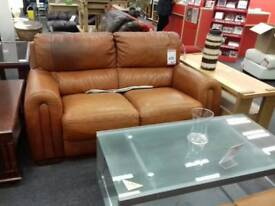 Tan leather suite (3 seater and 2 seater)