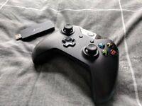 Xbox One Controller + Wireless Adapter for Windows (Like New)