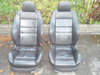 golf mk4 leather recaro seats front and back